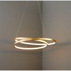 Scribble Stunning LED Ceiling Pendant Light In Gold Leaf Finish 72479
