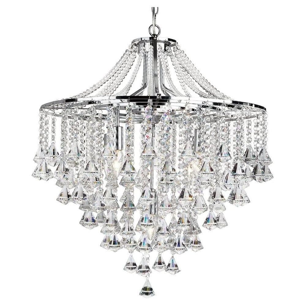 Searchlight 3495 5cc dorchester 5 light crystal chandelier 3495 5cc dorchester 5 light crystal chandelier mozeypictures Images