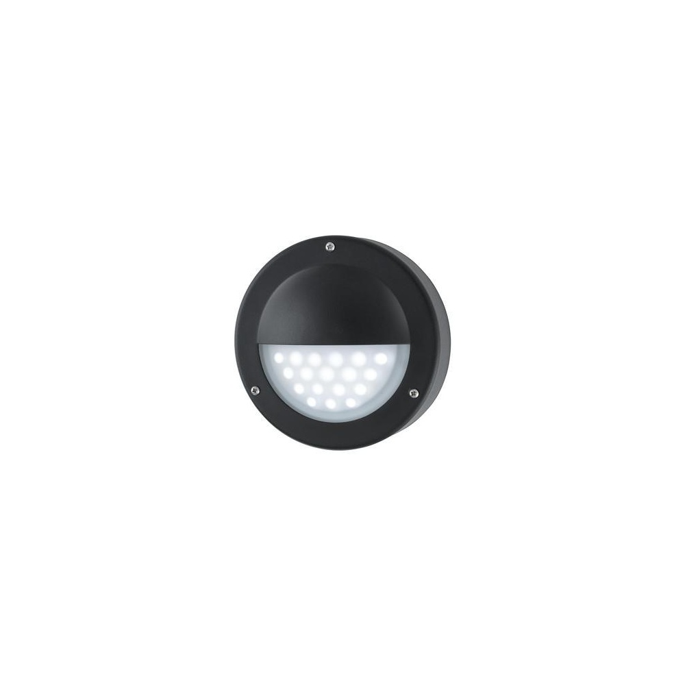 8744BK LED Black Outside Wall Light, IP44