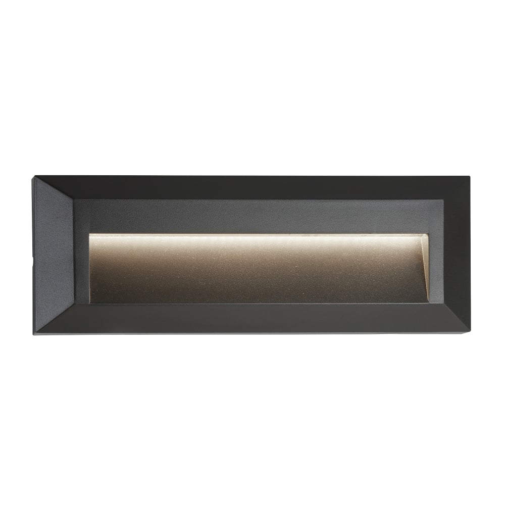 Searchlight ankle outdoor rectangular recessed wall light in dark ankle outdoor rectangular recessed wall light in dark grey finish ip65 8732gy aloadofball Choice Image