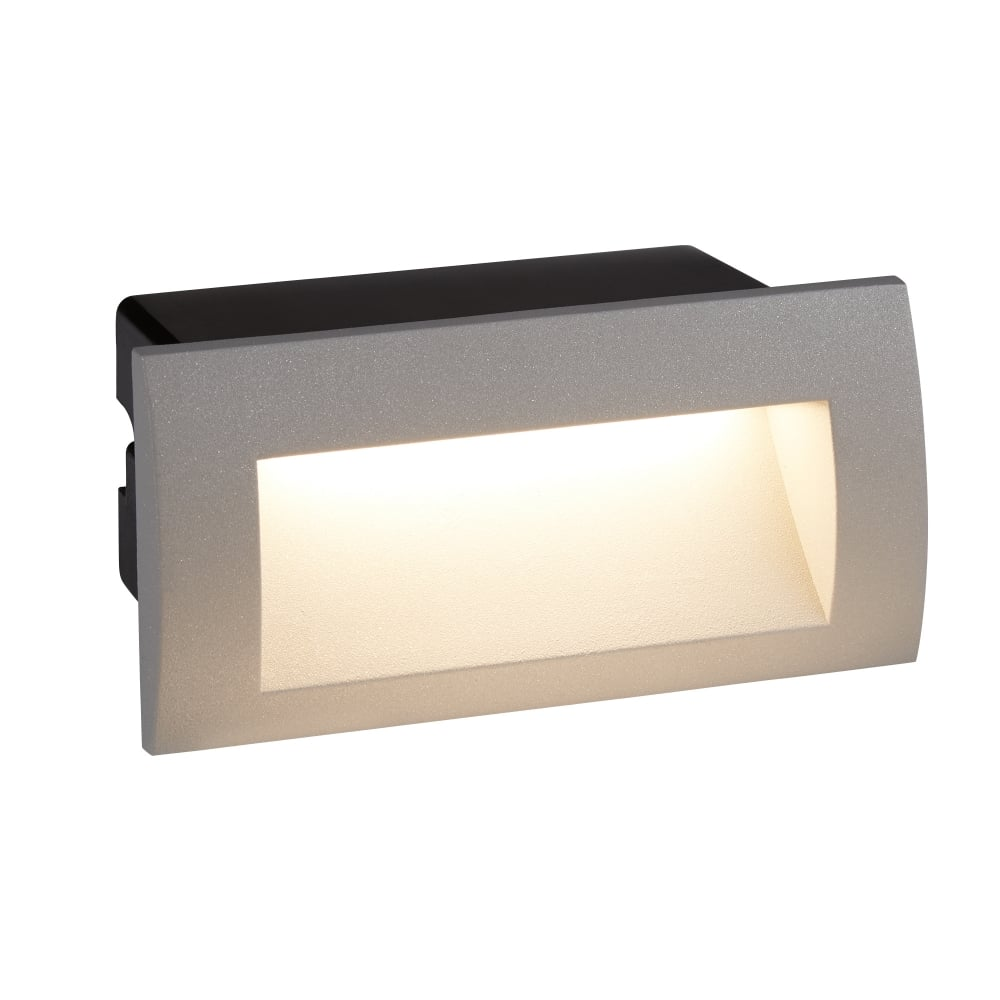 Searchlight ankle outdoor rectangular recessed wall light in grey ankle outdoor rectangular recessed wall light in grey finish ip65 0662gy aloadofball Gallery