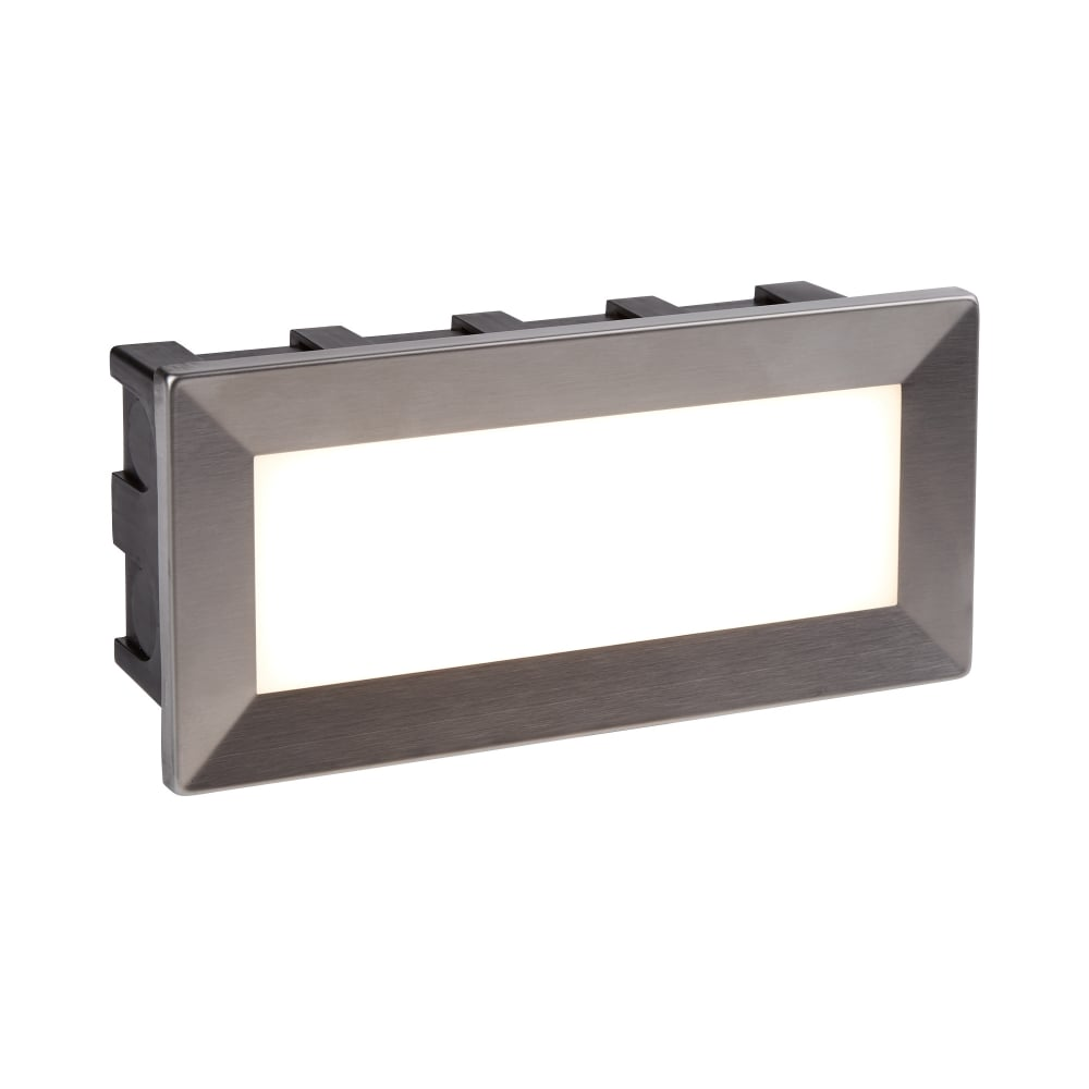Searchlight ankle outdoor rectangular recessed wall light in ankle outdoor rectangular recessed wall light in stainless steel finish ip65 0762 aloadofball Gallery