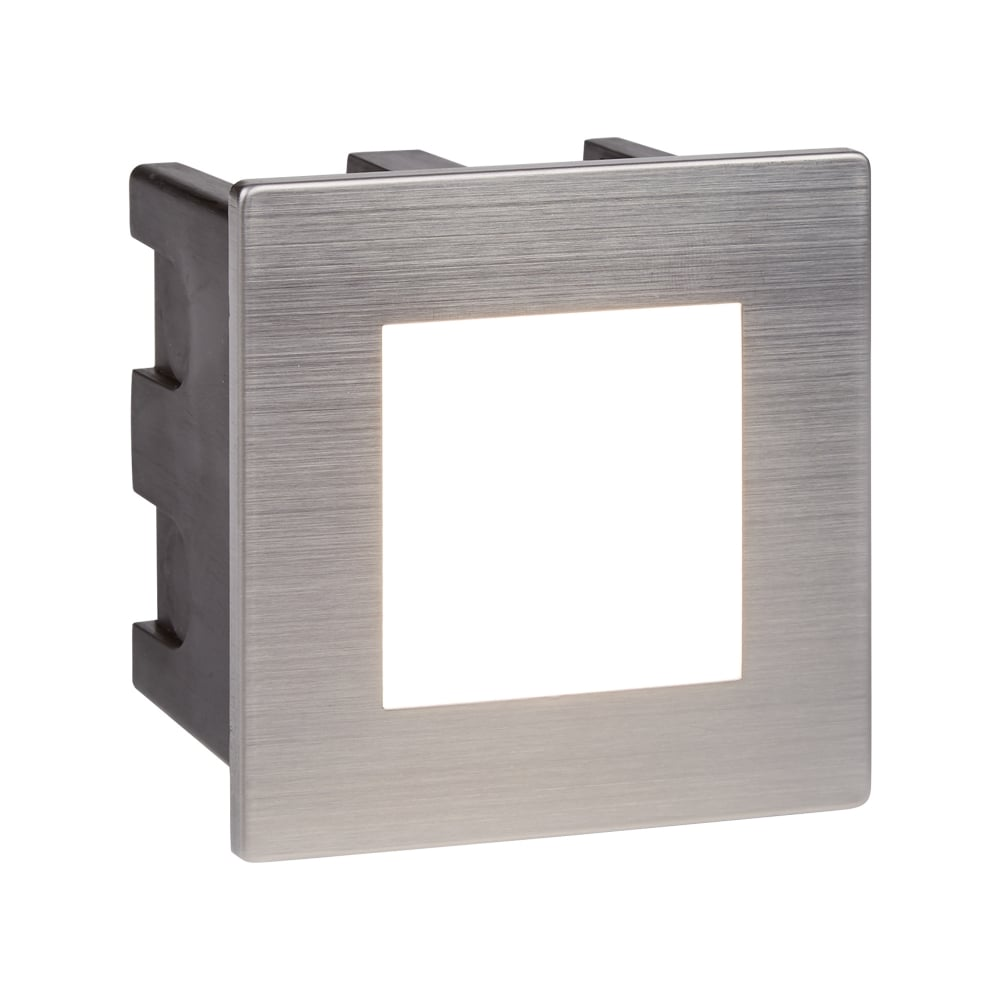 Searchlight ankle outdoor square recessed wall light in stainless ankle outdoor square recessed wall light in stainless steel finish ip65 0761 aloadofball Image collections