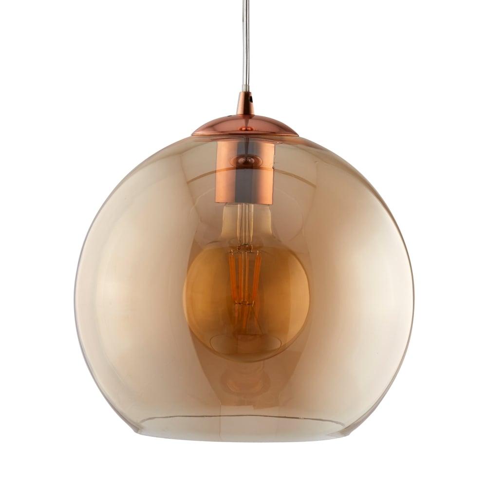 Searchlight balls single medium ceiling pendant light with amber balls single medium ceiling pendant light with amber glass shade 1632am aloadofball Gallery