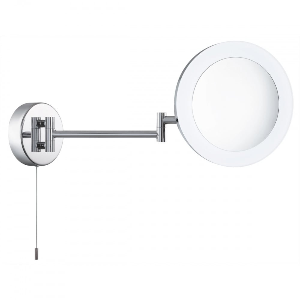 Searchlight Bathroom LED Swing Arm Magnifying Mirror in Chrome ...
