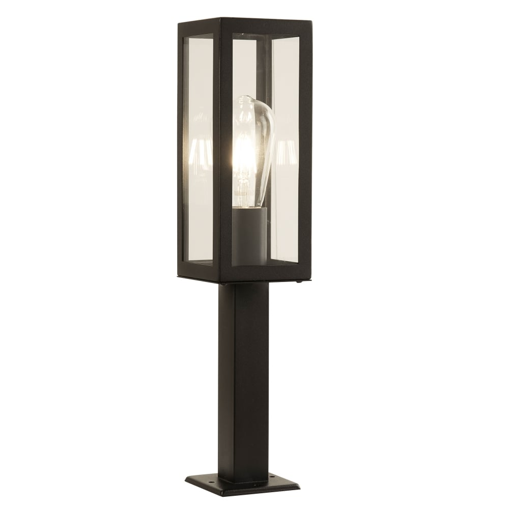 Searchlight box outdoor rectangle post light in black finish ip44 box outdoor rectangle post light in black finish ip44 6441 450bk aloadofball Choice Image