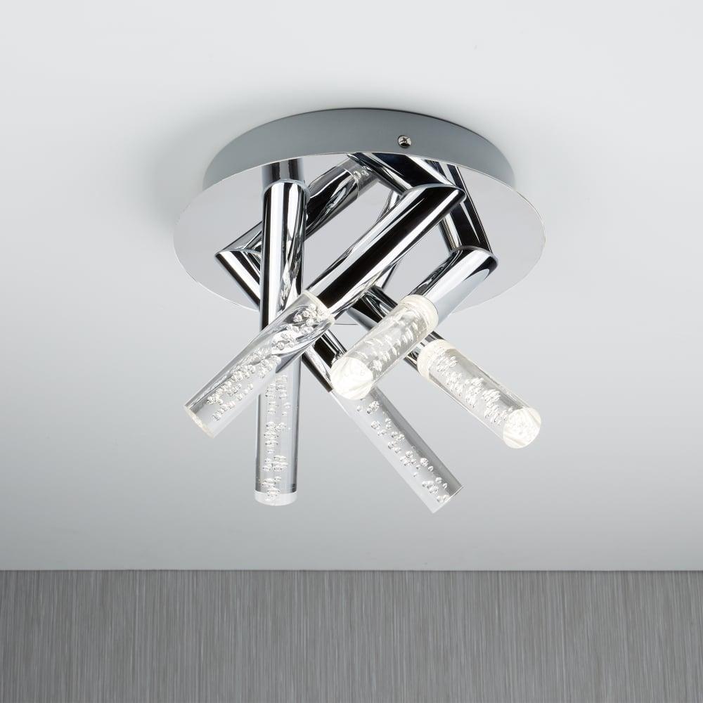 Searchlight bubbles bathroom flush ceiling light in chrome finish bubbles bathroom flush ceiling light in chrome finish with bubble effect 2375 5cc aloadofball Choice Image