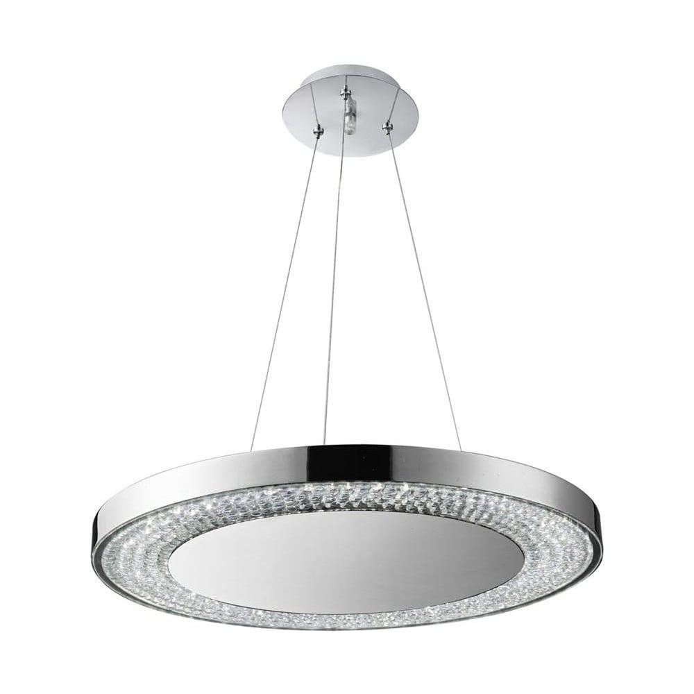 Chrome and Glass LED Ceiling Light 58880-80CC  sc 1 st  The Home Lighting Centre & Searchlight Chrome and Glass LED Ceiling Light 58880-80CC - Lighting ...