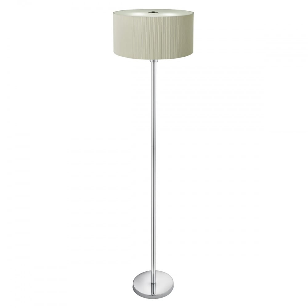 Searchlight drum pleat floor lamp with cream shade and glass drum pleat floor lamp with cream shade and glass diffuser 5663 3cr aloadofball Gallery