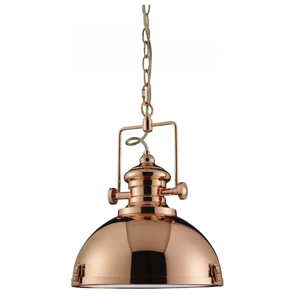 Searchlight industrial polished copper pendant ceiling light industrial polished copper pendant ceiling light 2297cu aloadofball Image collections