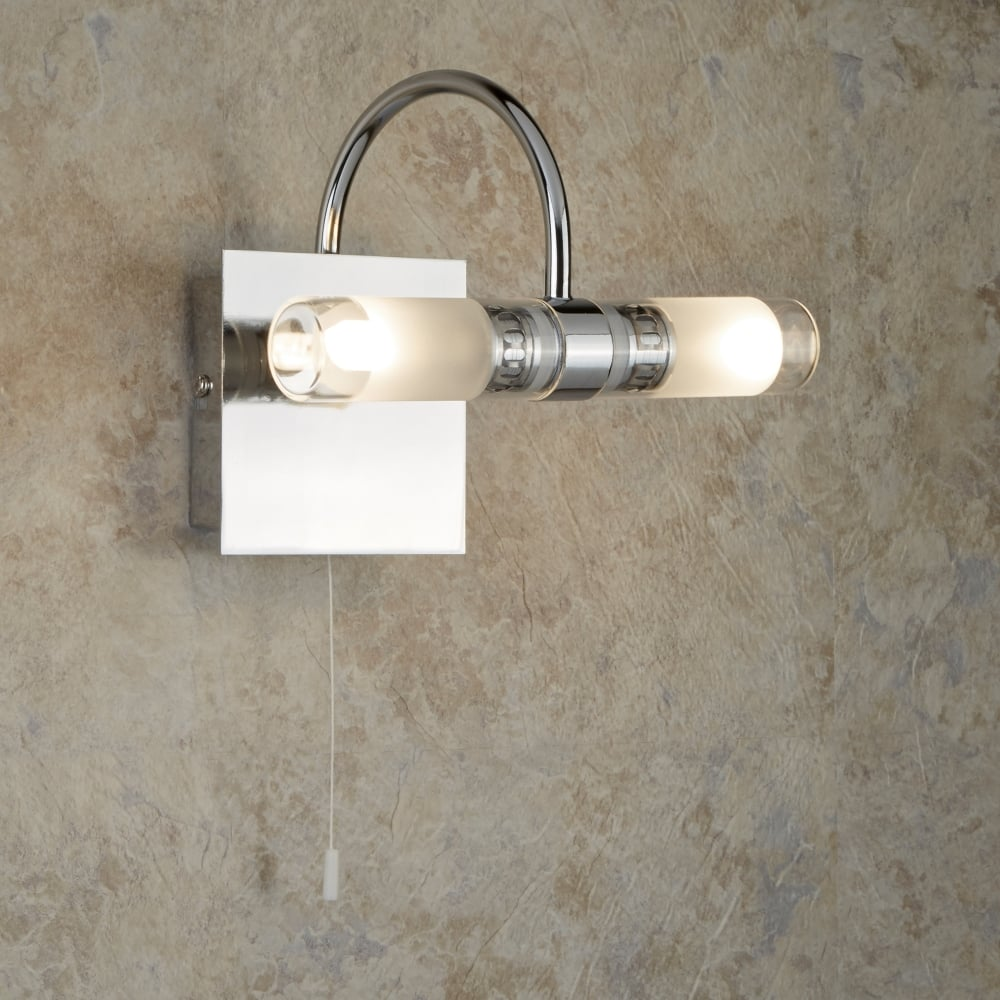 Searchlight Lima Bathroom LED Wall Light With Mirrored Glass Plate ...