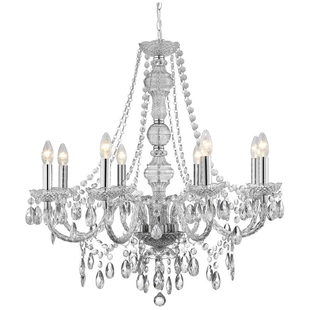 Marie Therese 8 Light Clear Acrylic Chandelier 8888 8cl