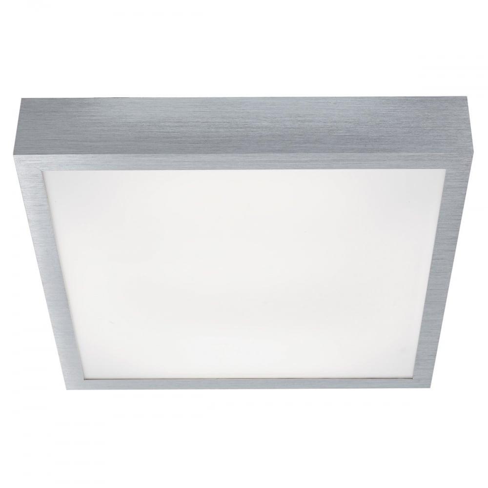 Modern LED Square Flush Ceiling Light In Aluminium Finish 1881 36