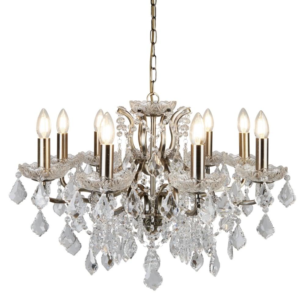 searchlight paris classic 8 light ceiling chandelier in antique