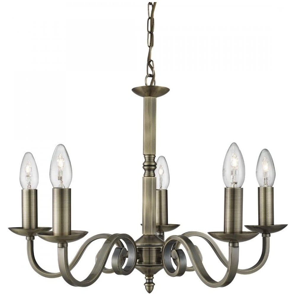Searchlight richmond traditional 5 light ceiling pendant light in richmond traditional 5 light ceiling pendant light in antique brass finish 1505 5ab mozeypictures Choice Image