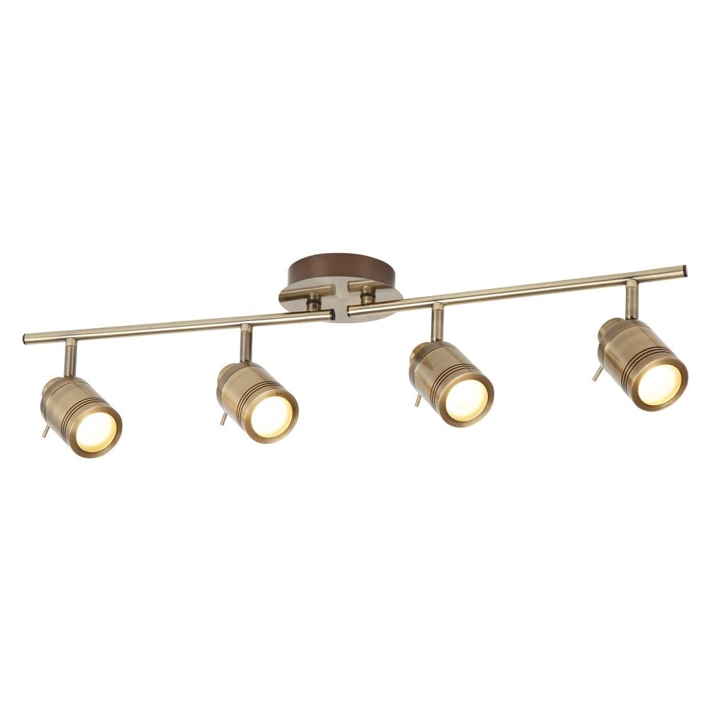 Searchlight samson bathroom 4 light ceiling bar spotlight in antique samson bathroom 4 light ceiling bar spotlight in antique brass finish 6604ab aloadofball Choice Image