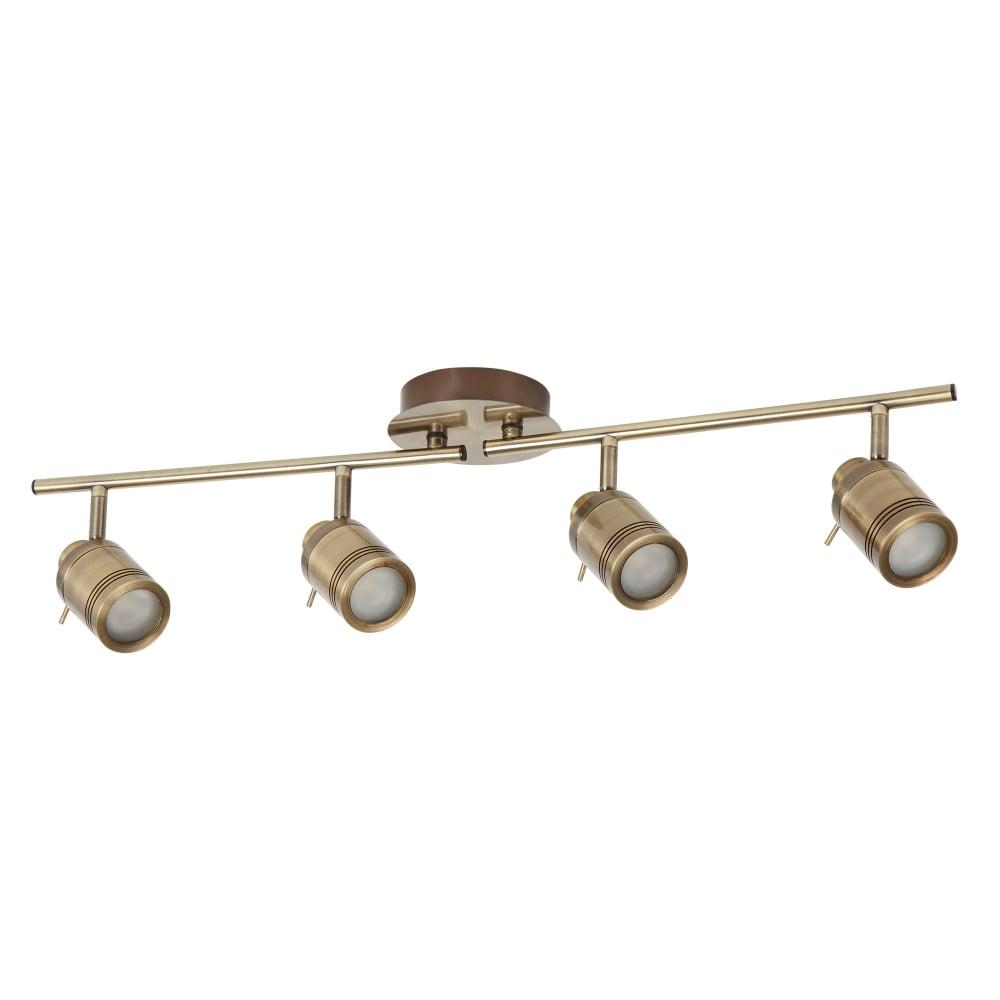 searchlight samson bathroom 4 light ceiling bar spotlight in antique