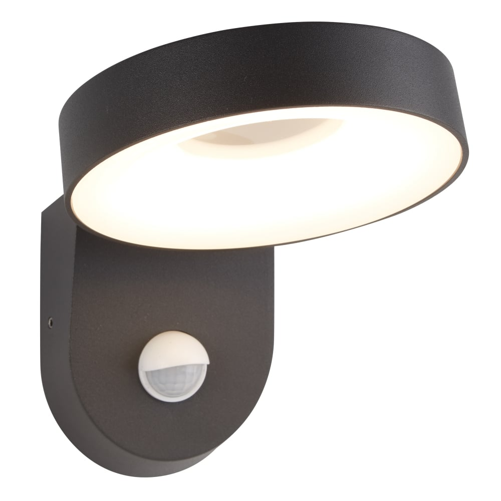 Searchlight san diego outdoor led pir wall light in dark grey finish san diego outdoor led pir wall light in dark grey finish ip44 1321gy mozeypictures