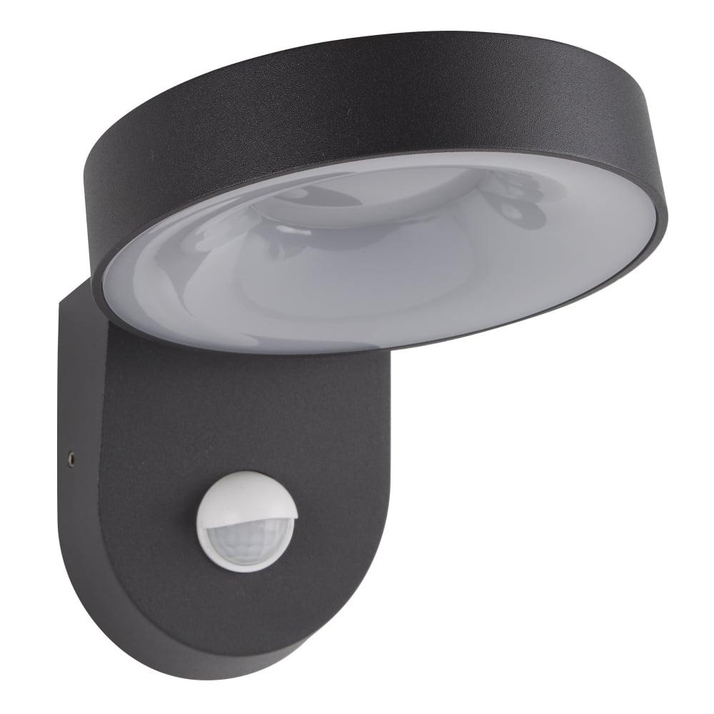 San Diego Outdoor LED PIR Wall Light In Dark Grey Finish IP44 1321GY