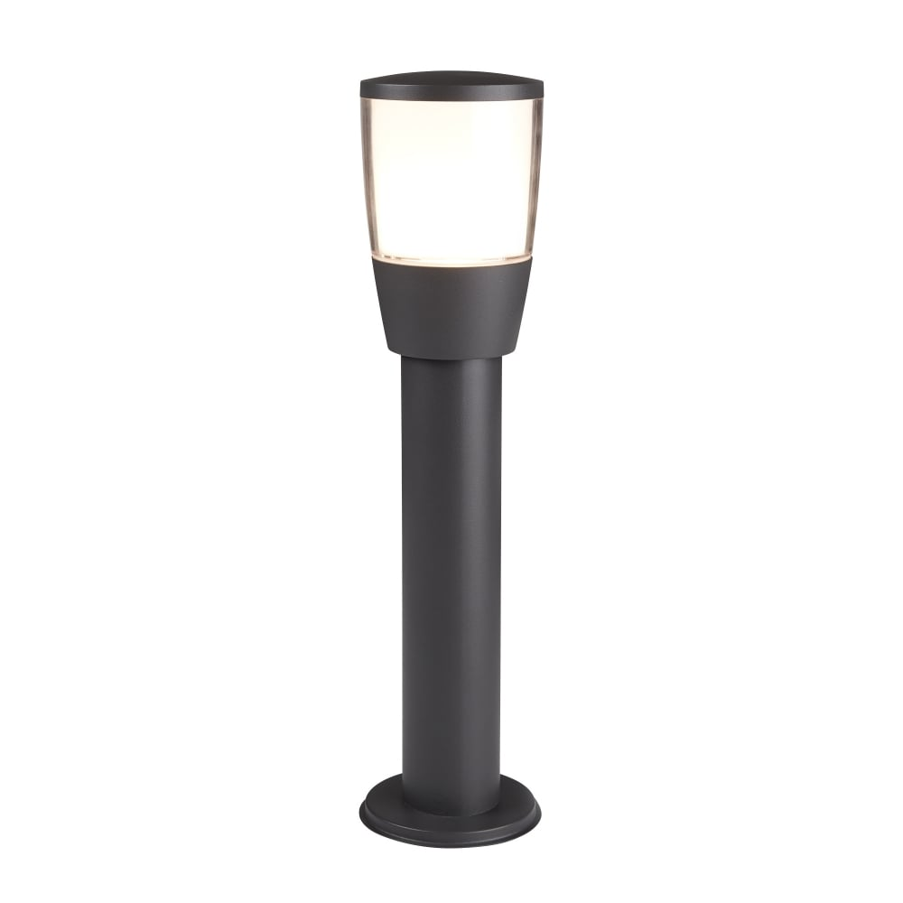 searchlight tucson modern outdoor post light in grey finish 0598