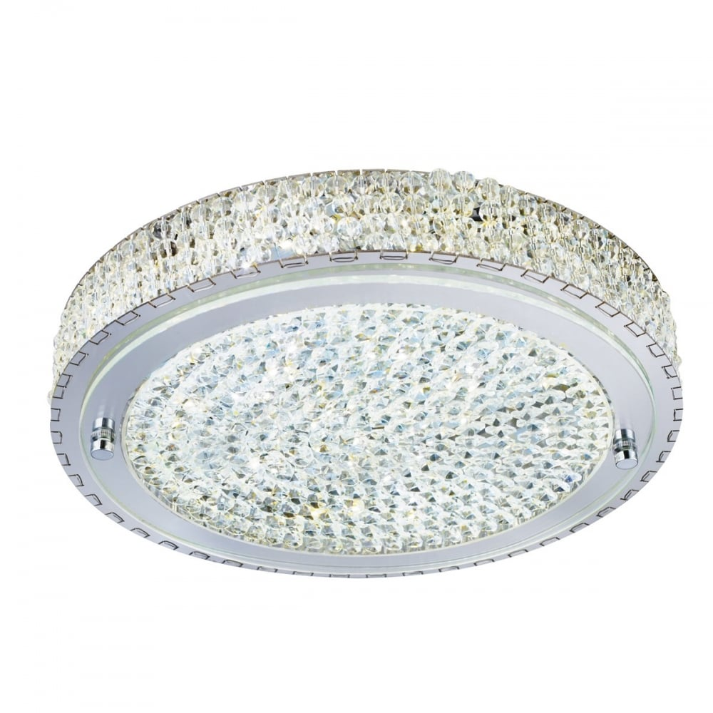 Searchlight vesta elegant led crystal flush ceiling light in chrome vesta elegant led crystal flush ceiling light in chrome finish 2713cc aloadofball Gallery