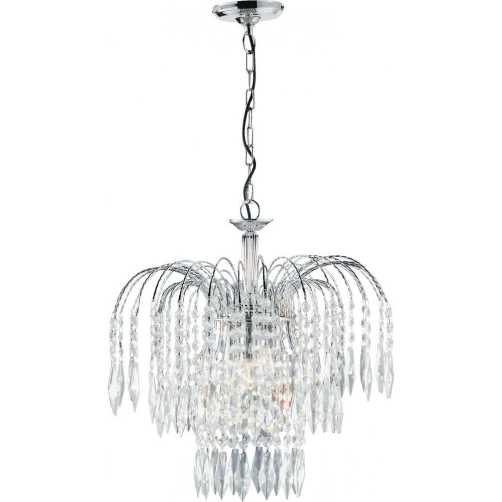 Searchlight waterfall modern chrome 3 light chandelier 4173 3 waterfall modern chrome 3 light chandelier 4173 3 aloadofball Choice Image