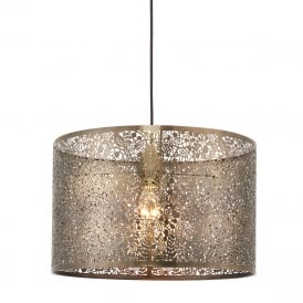 Secret Garden Decorative Large Non Electric Ceiling Pendant Light In Antique Brass 70104