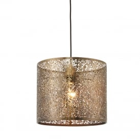 Secret Garden Decorative Non Electric Ceiling Pendant Light In Antique Brass 70103