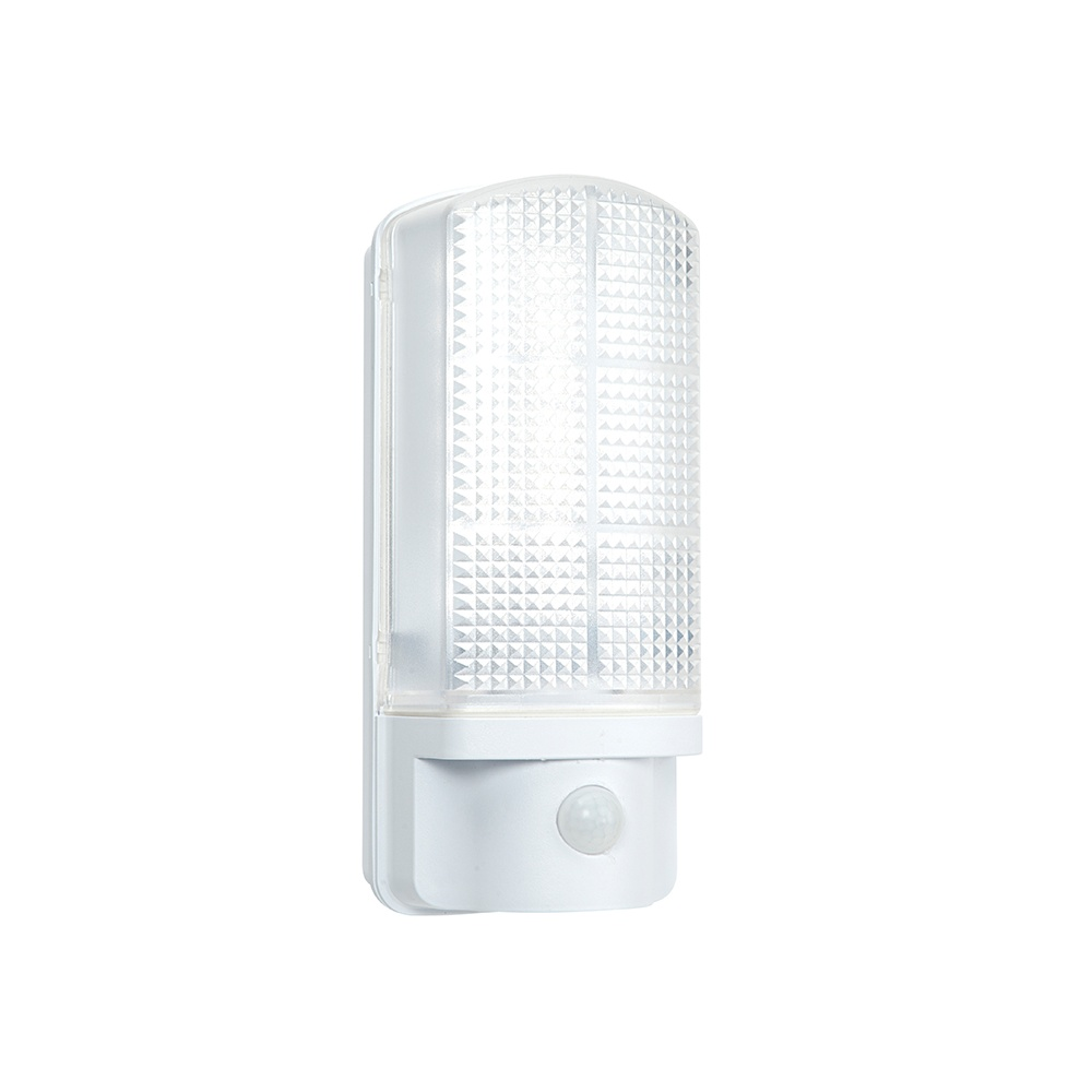 Led Outside Wall Lights With Pir : Endon Sella LED PIR Exterior Wall Light with Frosted Polycarbonate Diffuser IP44 54514 ...