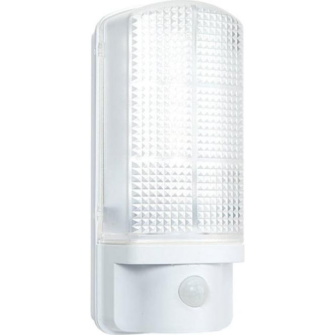 Endon Sella Led Pir Exterior Wall Light With Frosted Polycarbonate Diffuser Ip44 545 THEHOMELIGHTINGCENTRE
