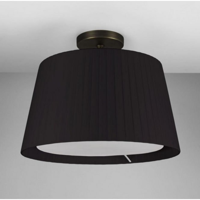 Astro Lighting Semi Flush Ceiling Light in Bronze with Black Shade 7462 + 4085