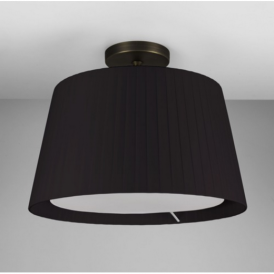 Semi Flush Ceiling Light in Bronze with Black Shade 7462 + 4085