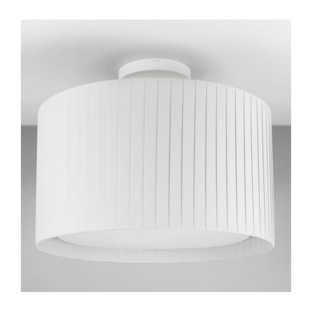 Astro Lighting Semi Flush Ceiling Light in White with White Shade ...