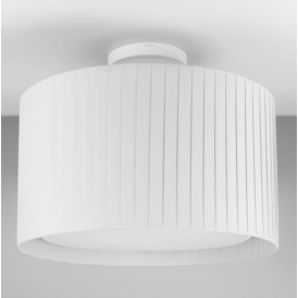 Semi Flush Ceiling Light in White with White Shade 7463 + 4162