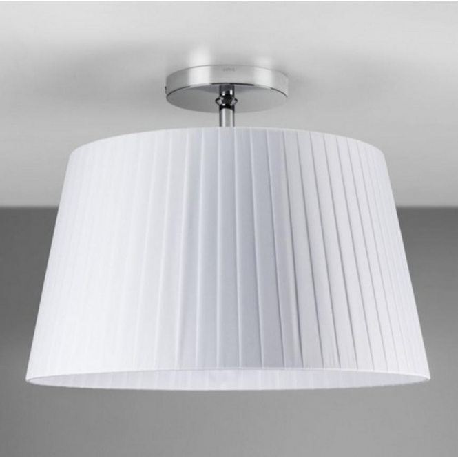 Astro Lighting Semi Flush Unit in Polished Chrome with White Shade 7460 + 4086