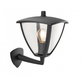 Seraph Modern Outdoor Wall Light In Textured Grey Finish 70695