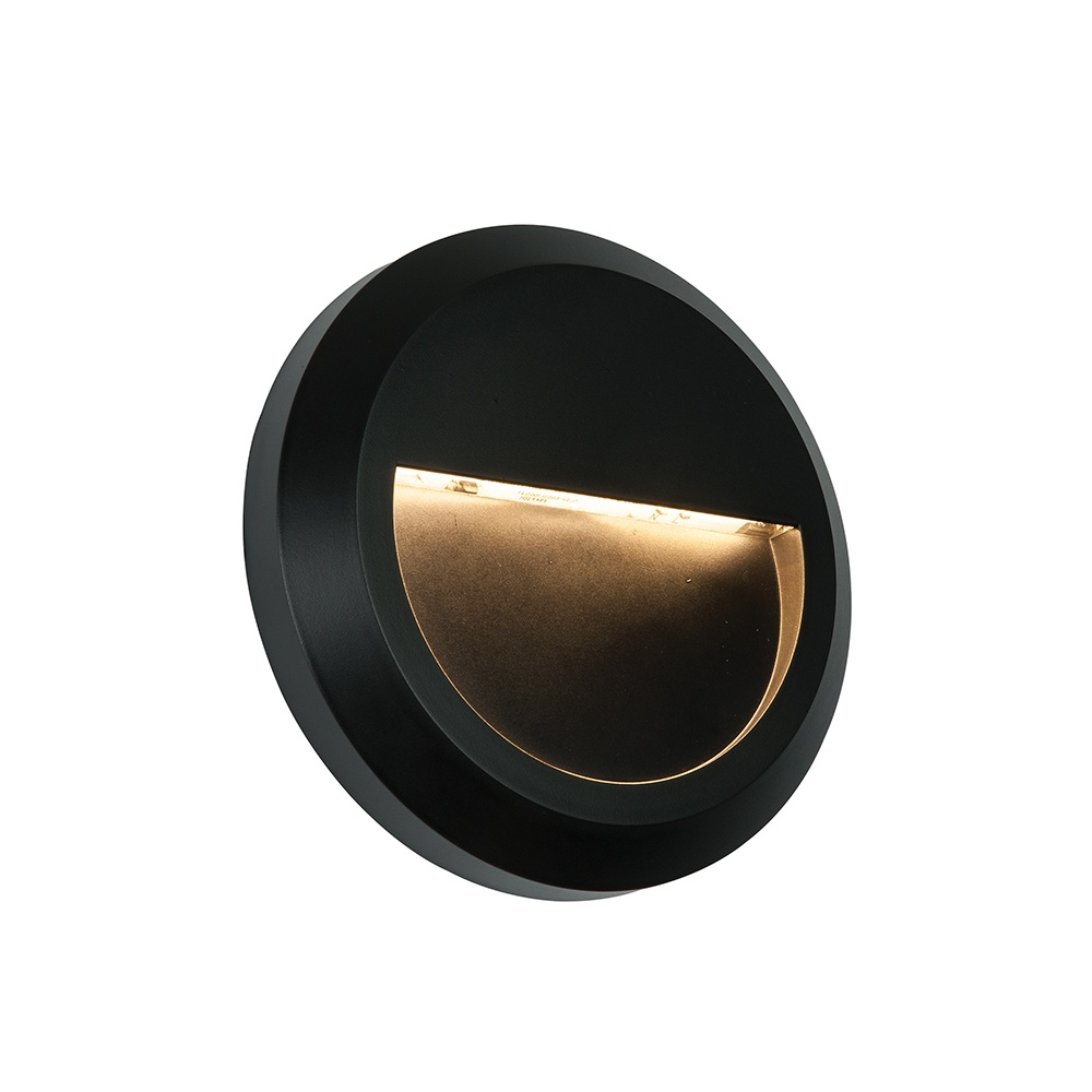 Exterior Wall Lights Ip65 : Endon Severus Round Exterior Black Wall Light IP65 61221 - Lighting from The Home Lighting Centre UK