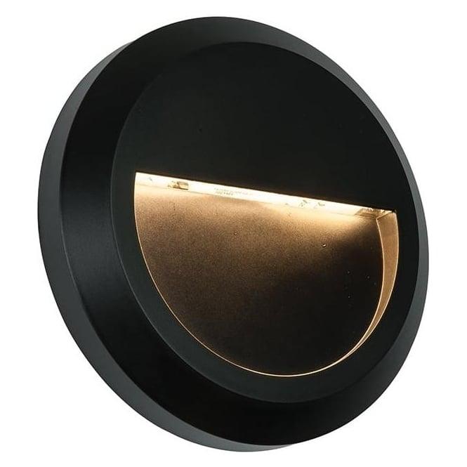 Endon Severus Round Exterior Black Wall Light IP65 61221 - Lighting from The Home Lighting Centre UK