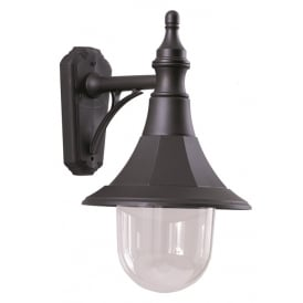 Shannon Outdoor Down Wall Lantern In Black Finish SHANNON DOWN