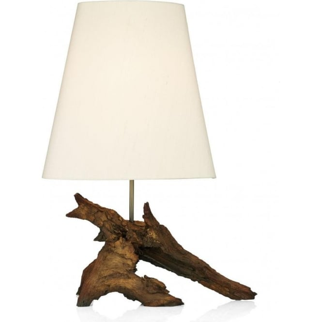 Dar Lighting Sherwood Table Lamp with Ivory Shade SHE4080 + SHE615