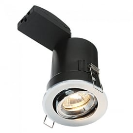 ShieldPLUS MV Recessed Tilted Downlight in Chrome Finish 50682