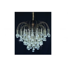 Shower Ball Crystal Strass Ceiling Chandelier In Antique Brass Finish ST01800/47/06/AB