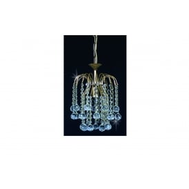 Shower Ball Crystal Strass Ceiling Chandelier In Gold Finish ST01800/20/01/G