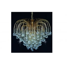 Shower Ball Crystal Strass Ceiling Chandelier In Gold Finish ST01800/60/06/G