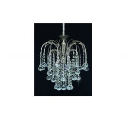 Shower Ball Crystal Strass Ceiling Chandelier In Nickel Finish ST01800/35/01/N