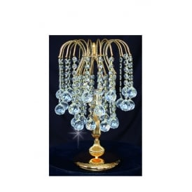 Shower Ball Crystal Strass Table Lamp In Gold Finish ST01800/TL/G