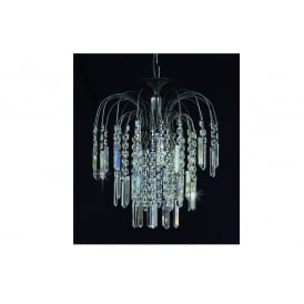Shower Coffin Crystal Strass Ceiling Chandelier In Antique Nickel Finish ST01700/35/01/AN