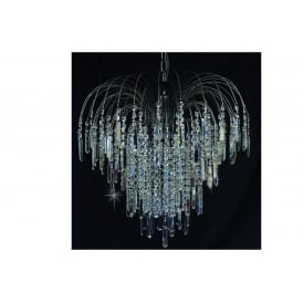 Shower Coffin Crystal Strass Ceiling Chandelier In Antique Nickel Finish ST01700/60/06/AN