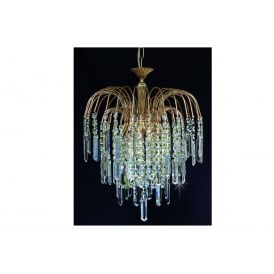 Shower Coffin Crystal Strass Ceiling Chandelier In Gold Finish ST01700/40/03/G