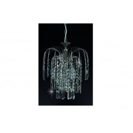 Shower Coffin Crystal Strass Ceiling Chandelier In Nickel Finish ST01700/20/01/N